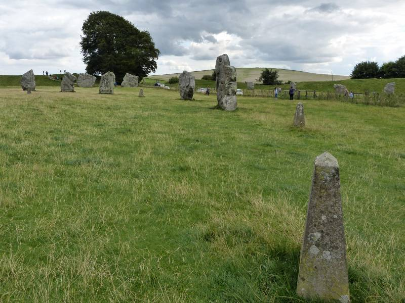 Avebury - the southern inner circle with markers