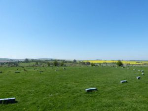 The sweep of the outer ring of The Sanctuary near Avebury