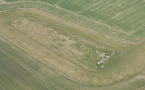 West Kennet Long Barrow Arial View