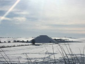 Silbury Hill in February snow