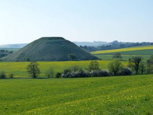 Silbury Hill from Waden Hill in the Spring at Oldbury Tours