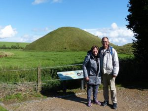 At Silbury Hill in September with Oldbury Tours