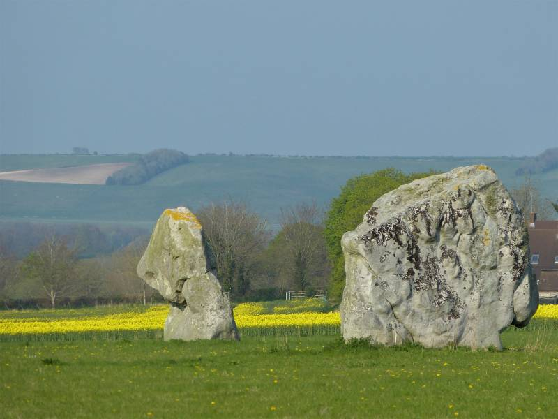 The two remaining stones of the Beckhampton Avenue