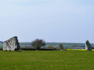 The view between the Beckhampton stones to Windmill Hill