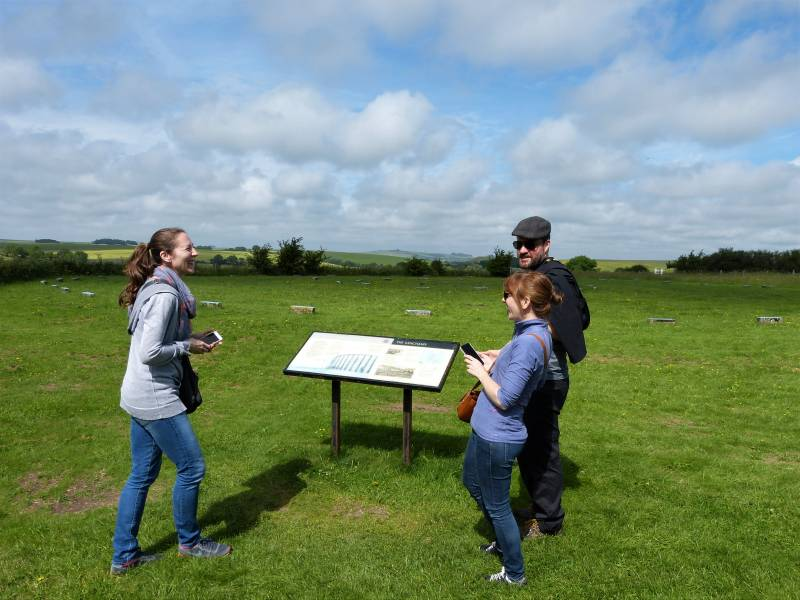 Private tour of Aveubyry area - enjoying a moment at The Sanctuary near Avebury