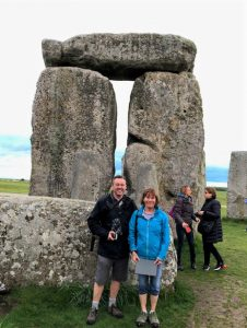 Your Stonehenge guide Laurence in the Inner circle in April