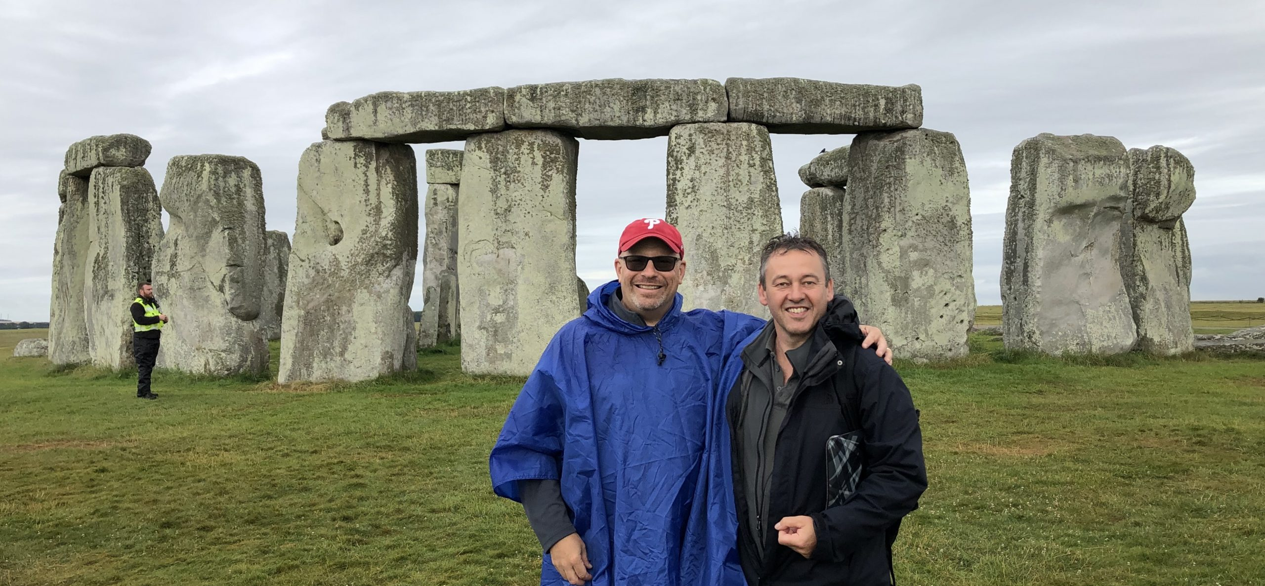 On a private tour to Stonehenge.