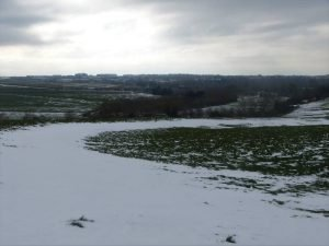 Durrington Walls with Oldbury Tours after a March snowfall