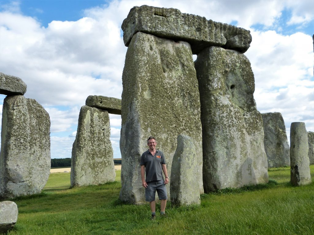 Laurence at Stonehenge