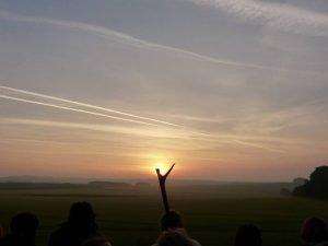 Avebury Private Guide - at Avebury midsummer sunrise with Oldbury Tours