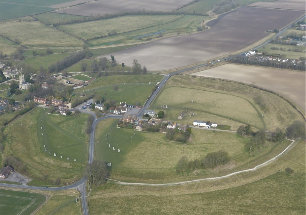 Avebury stone circles with a flying guide