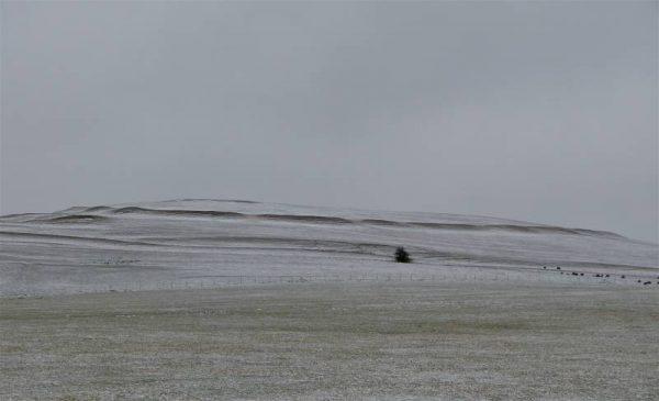 Causewayed enclosures - Knap HIll after a light snowfall