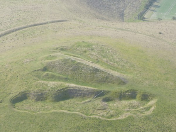 Stonehenge and Avebury guided tours - Aerial photograph of Adam's Grave, Pewsey Vale by Laurence of Oldbury Tours