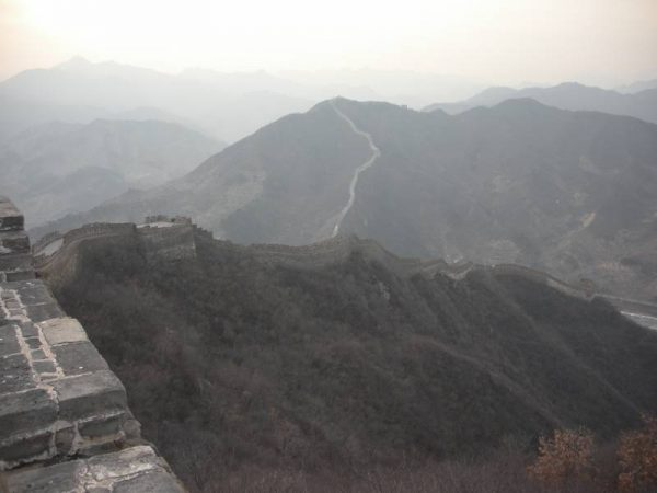 The Great Wall of China into the distance
