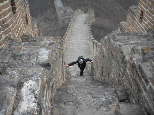 The Great Wall - steep ascent