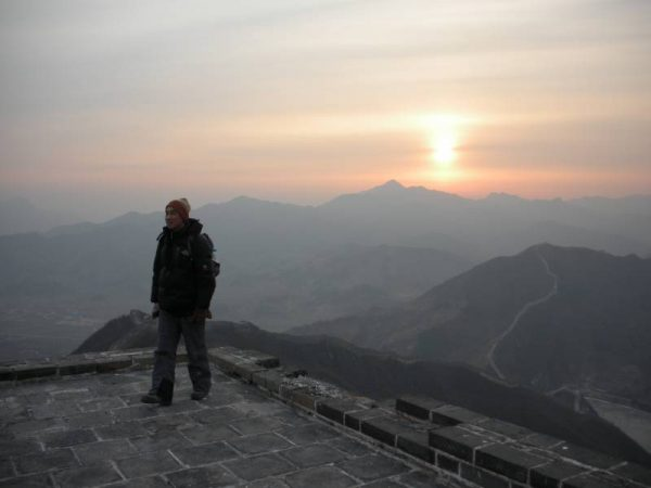 Setting sun - Great Wall of China