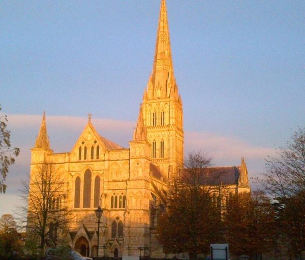 Stonehenge private guided tours - Salisbury Cathedral, Wiltshire in evening light with Oldbury Tours