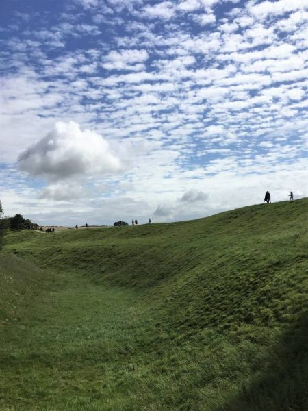 Visit with an Avebury guide - Avebury henge ditch and bank