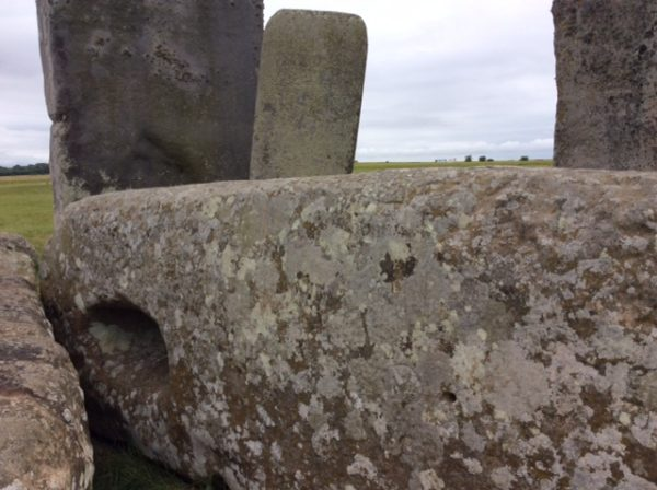 Your Stonehenge guide - mortice hole on fallen Stonehenge lintel