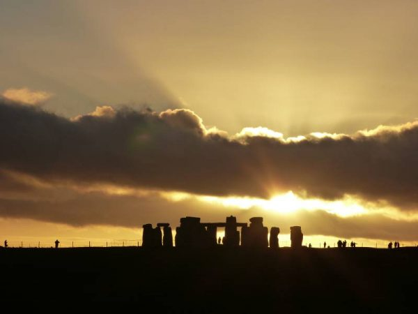 Stonehenge guided tours - midwinter sunset at Stonehenge with Oldbury Tours