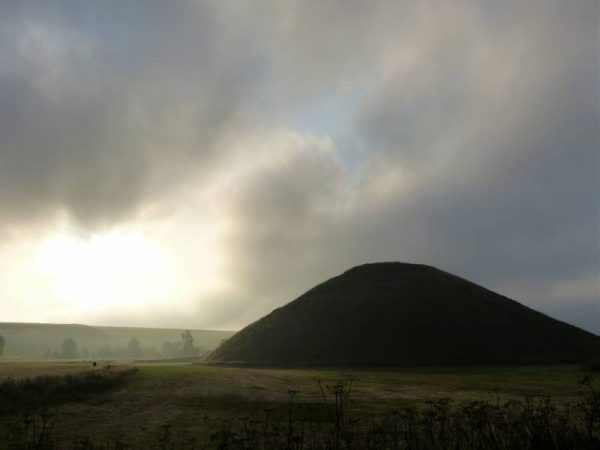 Avebury hike - evening at Silbury Hill, Wiltshire, UK