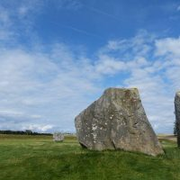 Avebury - the two remaining stones of The Cove