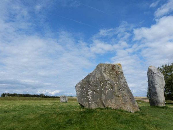 Visit with an Avebury guide - the two remaining stones of The Cove