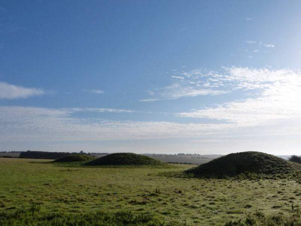 Avebury and Stonehenge guided tours - Bronze Age burial mounds near Avebury, Wiltshire, UK