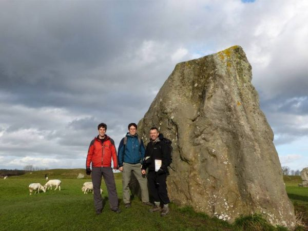 Avebury hike - by Avebury's largest remaining standing stone. Avebury, Wiltshire, UK