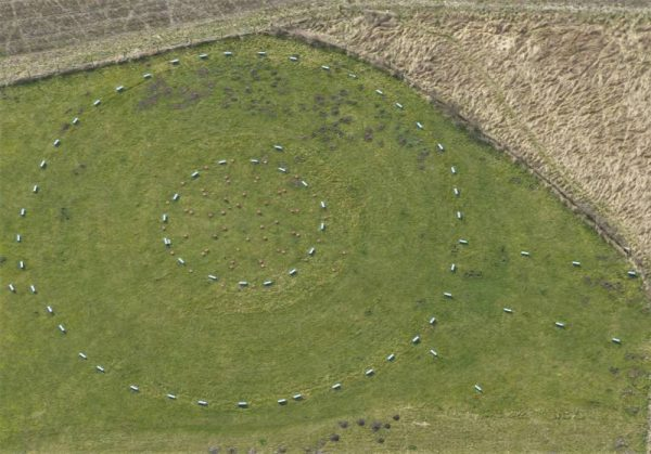 Avebury Private Guide - The Sanctuary near Avebury from the air