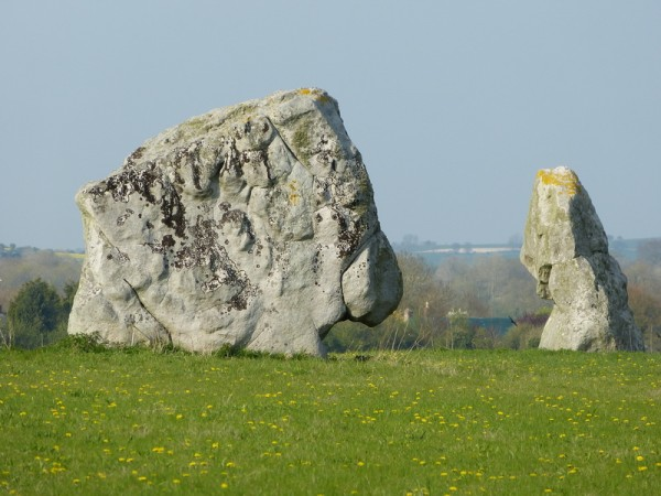 Adam and Eve, the last two stones of the Beckhampton Avenue