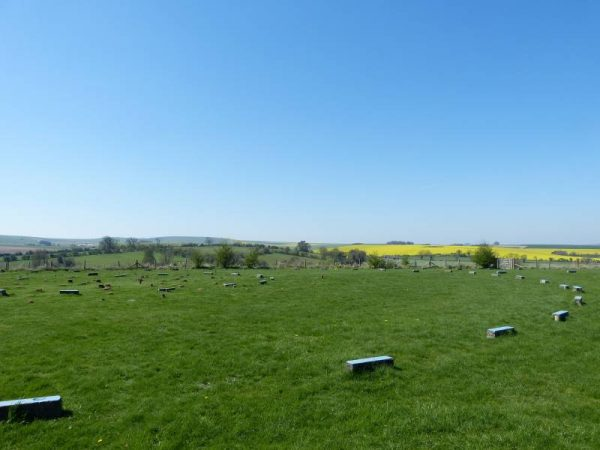 Avebury hike - the views are wonderful from The Sanctuary, Avebury, Wiltshire, UK
