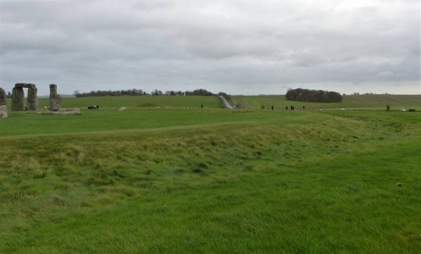 Your Stonehenge guide - part of the ditch of the original monument at Stonehenge