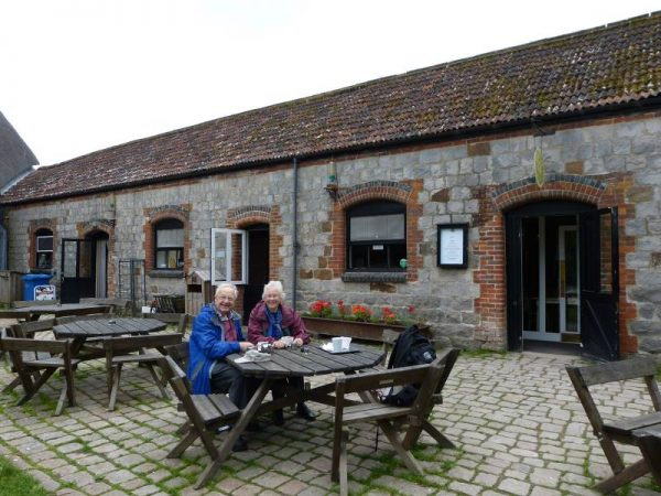 Outside Circles Cafe, in Avebury