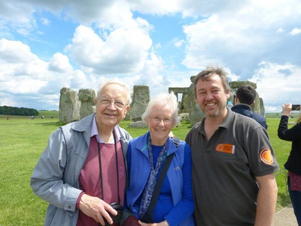 Laurence with Don and Wendy at Stonehenge