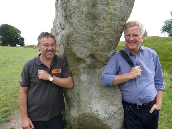 Laurence with Rick Steves at Avebury 2016