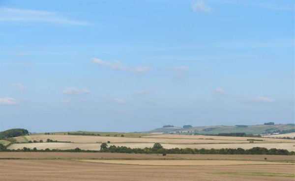 Avebury and Stonehenge guided tours - looking towards Windmill Hill, Wiltshire, UK