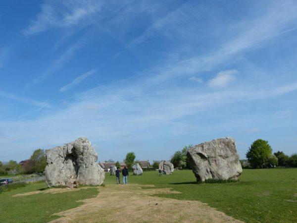 Approaching Avebury stone circles