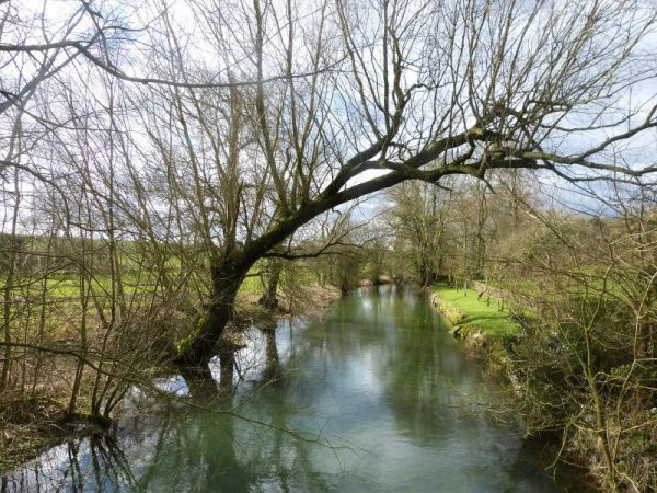 Avebury half day tour: Crossing the river Kennet, Wilsthire, UK