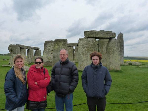 Stonehenge guided tours - at Stonehenge in April with Oldbury Tours