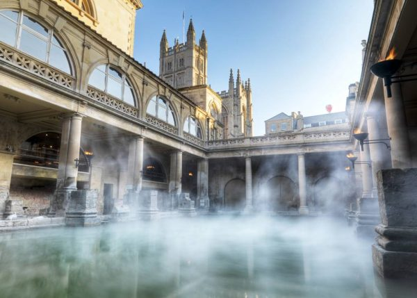 Steam rising from the Roman Baths, UK