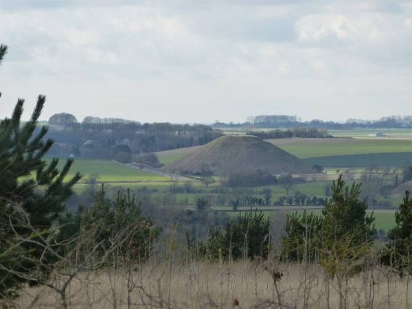 Stonehenge half day tour - looking back at Silbury Hill, Wiltshire, UK