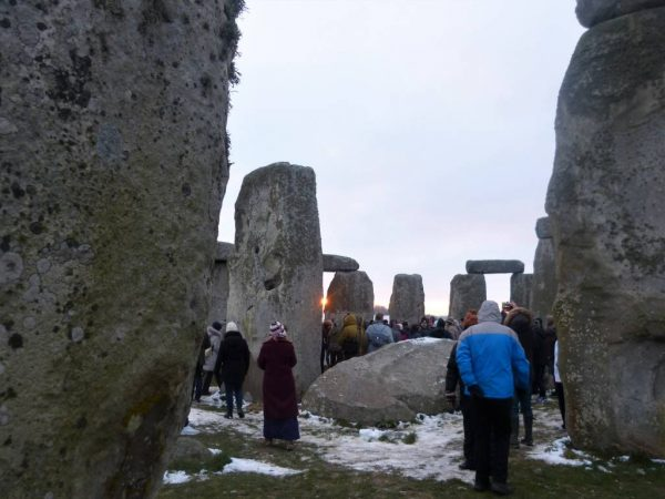 Inside Stonehenge to watch sunrise