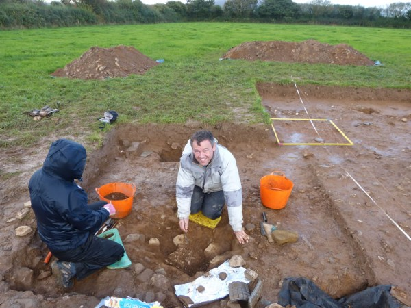 Laurence on site, excavating in Pembrokeshire
