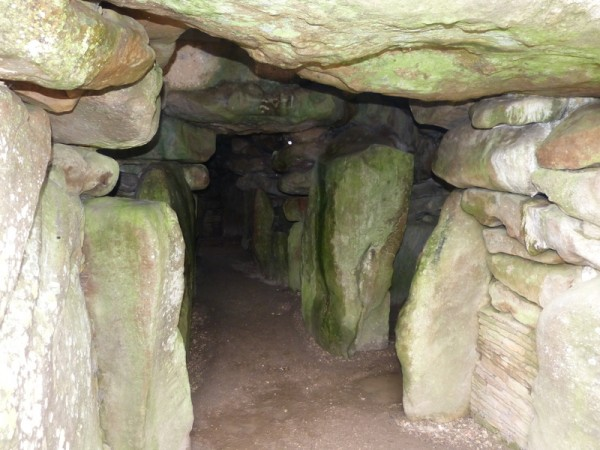 The central passage - West Kennet Long Barrow