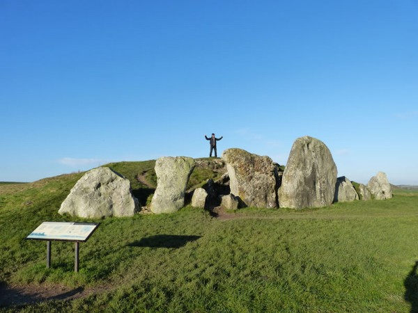 Standing on top of West Kennet Long Barrow