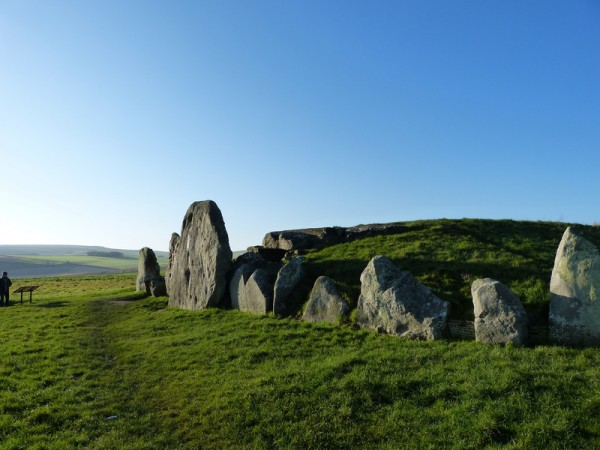 The Eastern facade of West Kennet Long Barrow